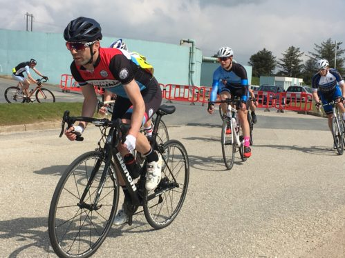 Cycle race at Wheal Jane