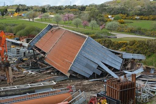 Crusher house demolition