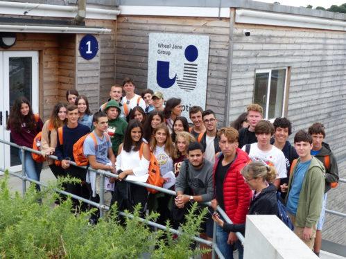 Italian students visit Wheal Jane